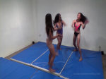 tag team female asian wrestling